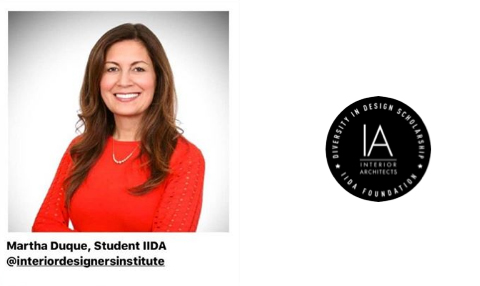 Congratulations to Martha Duque, IDI Bachelor of Arts Degree in Interior Design Student, 2019 IA Interior Architects Diversity In Design Scholarship Recipient